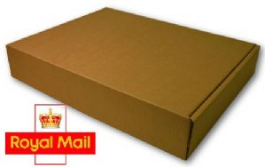 Royal Mail Small Parcel 375x250x60mm Postage Box 25 Pack - High Quality Die Cut